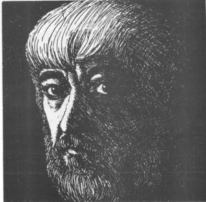 Гніздовський Я. Автопортрет. 1971. Офорт. Борщівський обласний краєзнавчий музей.