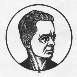 Гніздовський Я. Олександр Довженко. 1980. Дереворіз. Тернопільський обласний краєзнавчий музей.