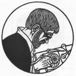 1-. Гніздовський Я. Автопортрет. 1981. Дереворіз. Борщівський обласний краєзнавчий музей.